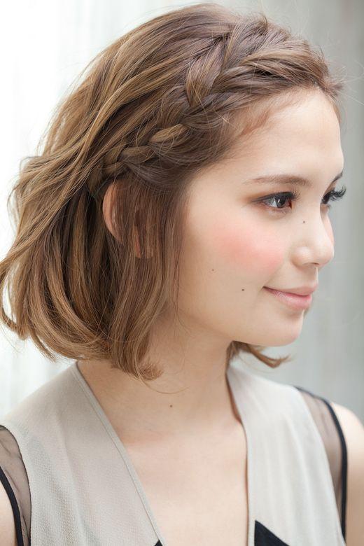 Косички на короткие волосы: фото 27