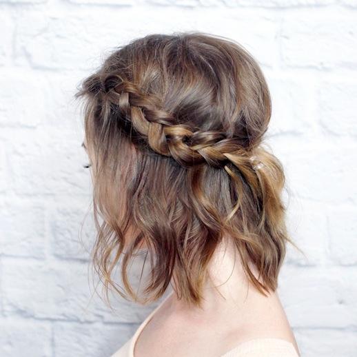Косички на короткие волосы: фото 11