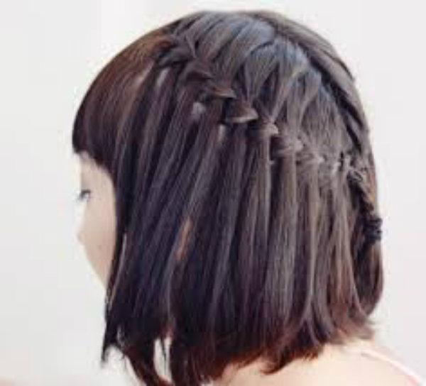 Косички на короткие волосы: фото 25