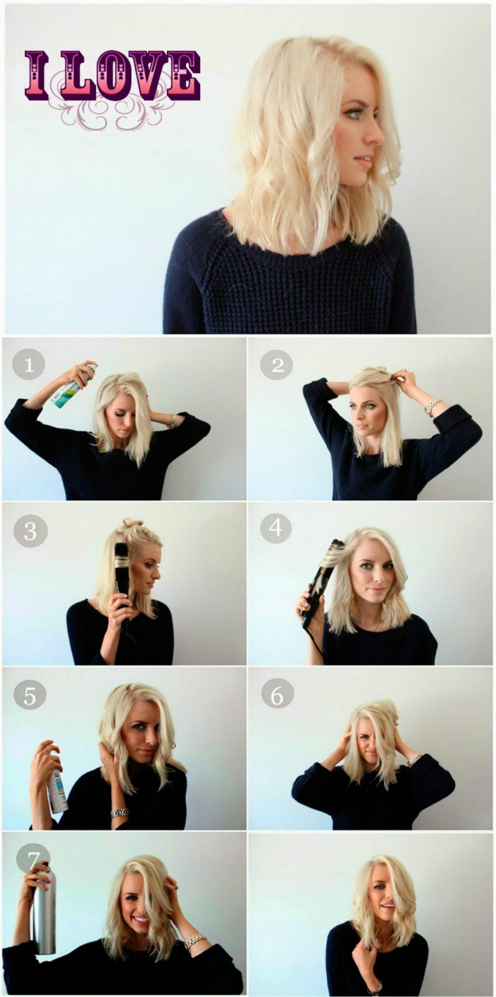 Прически для волосы до плеч своими руками