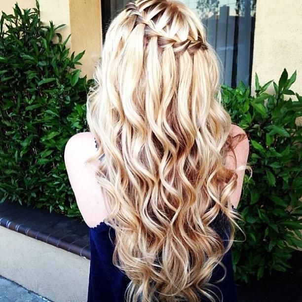 Водопад на длинные волосы