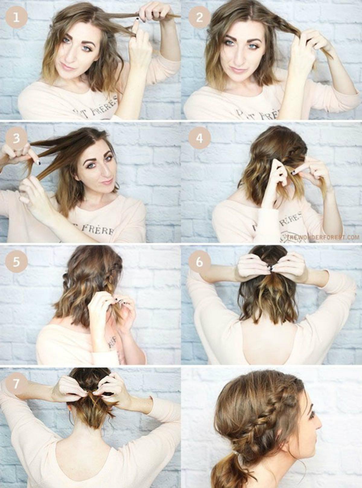 Как сделать прическу на волосы длиной до плеч 996