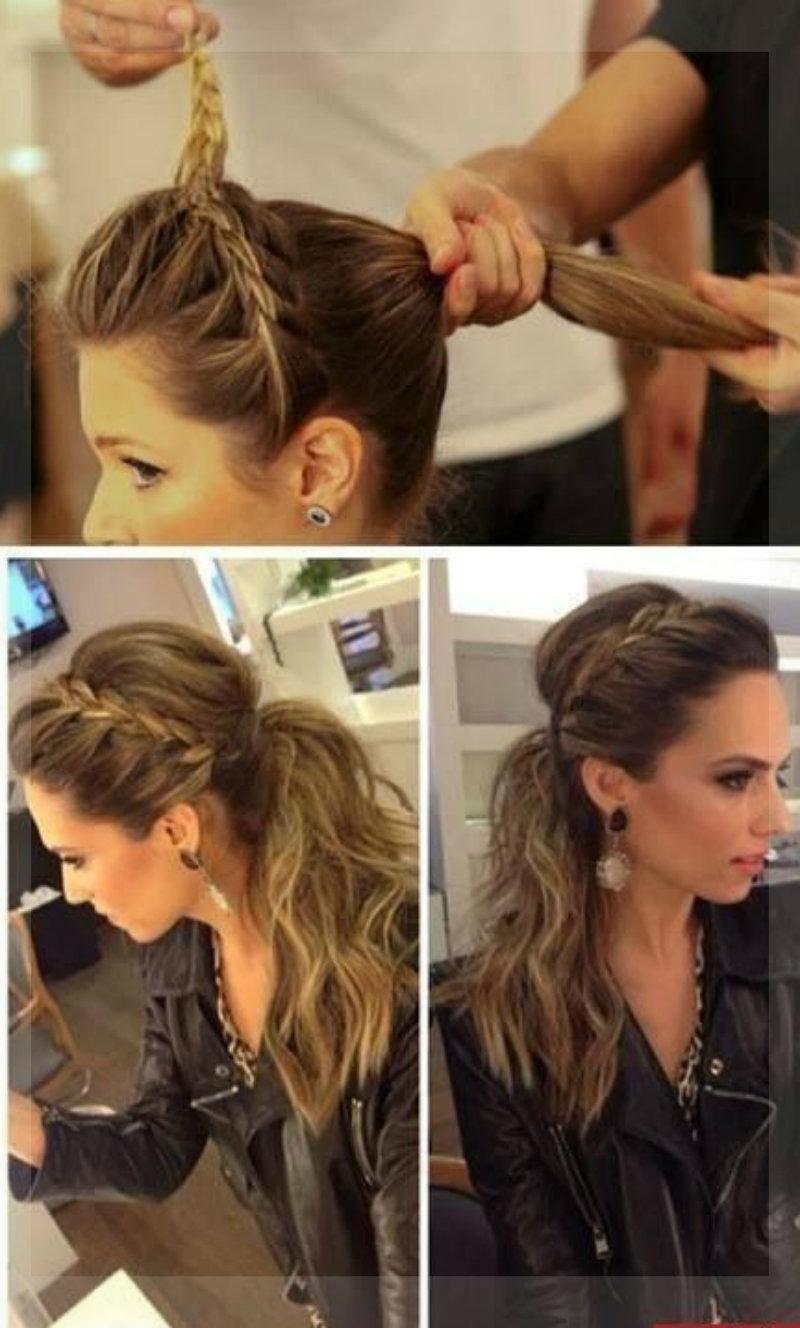 Фото простых причесок на длинный волос