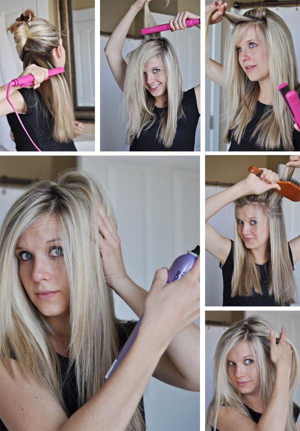 Как сделать объём волос с помощью утюжка