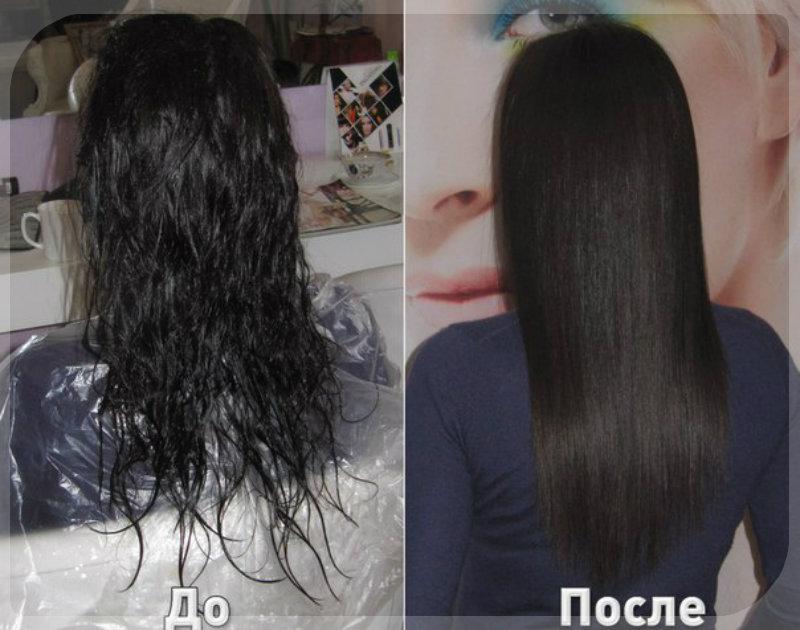 биовыпрямление волос: 2