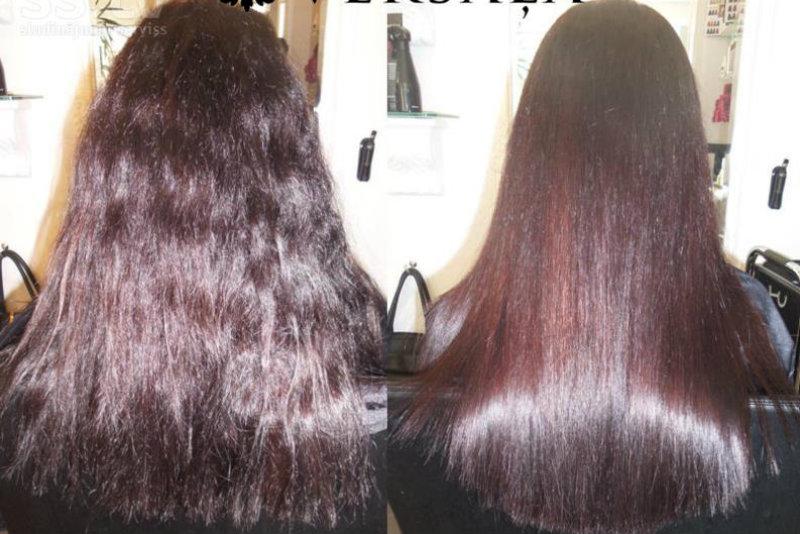 Перманентное выпрямление волос: фото 3