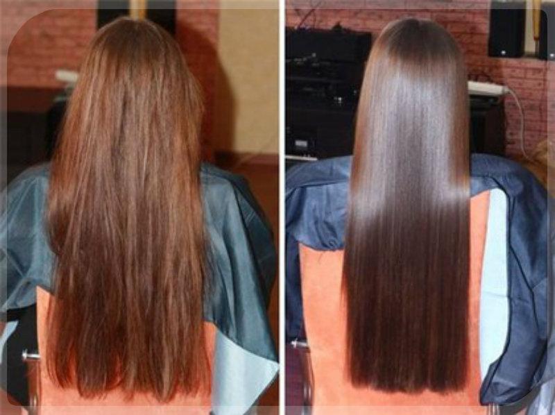 биовыпрямление волос: 3
