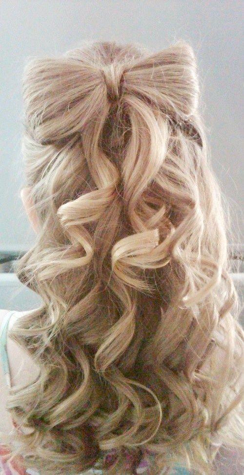 Прически на полураспущенные волосы: фото 4