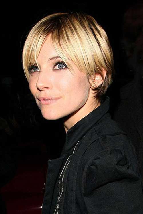 17 идеальных стрижек для блондинок: Сиенна Миллер