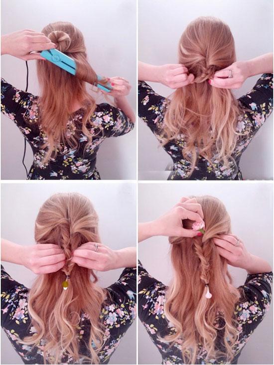 Цветок в влосах