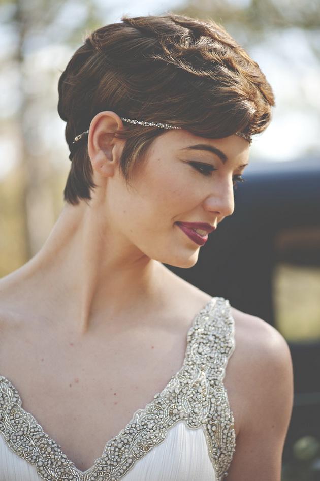 Лучшие свадебные прически на короткие волосы: фото 13
