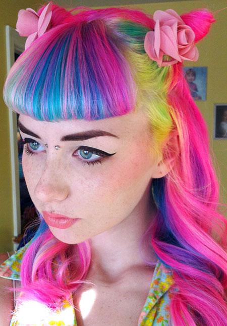 прически с помощью мелков для волос: фото 60