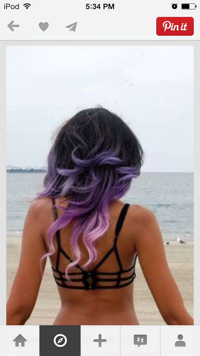 Purple-and-white-ombre
