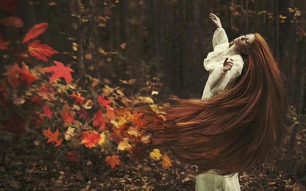 Волосы осенью