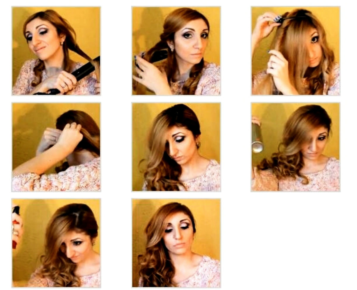 Как сделать асимметрию на длинных волосах