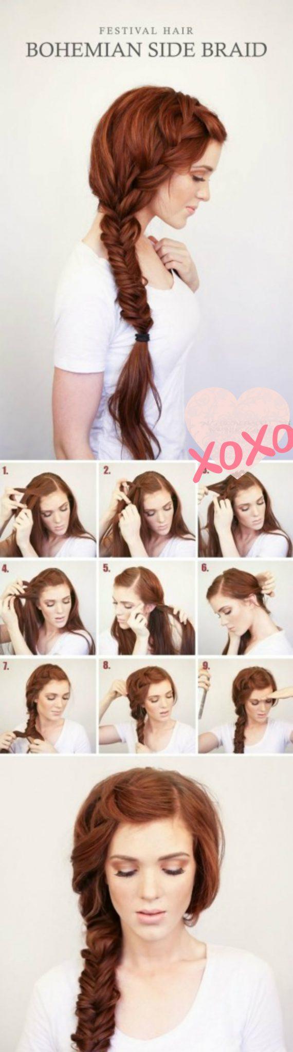 богемная коса