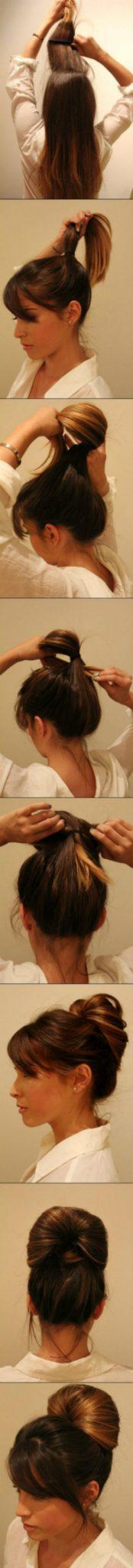 пучок для грязных волос