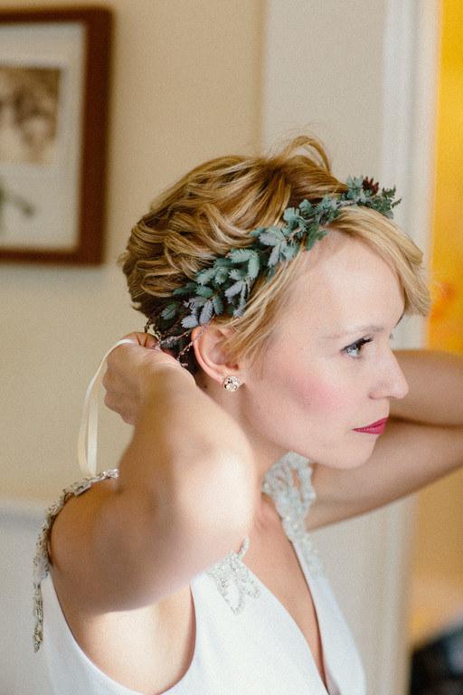Лучшие свадебные прически на короткие волосы: фото 16