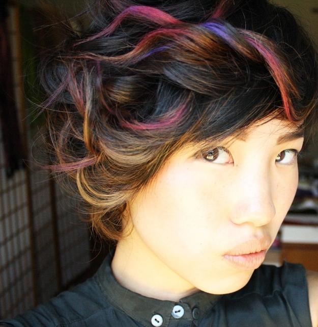 прически с помощью мелков для волос: фото 68