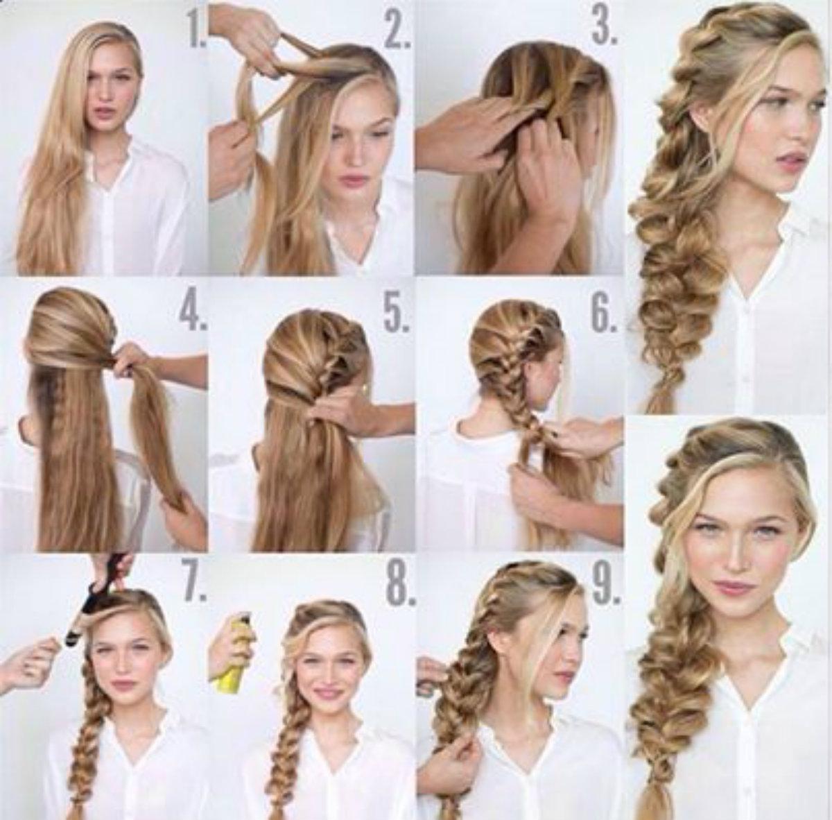как заплести небрежную косу