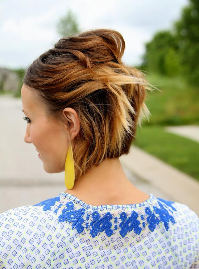 укладки для коротких волос: фото: 36