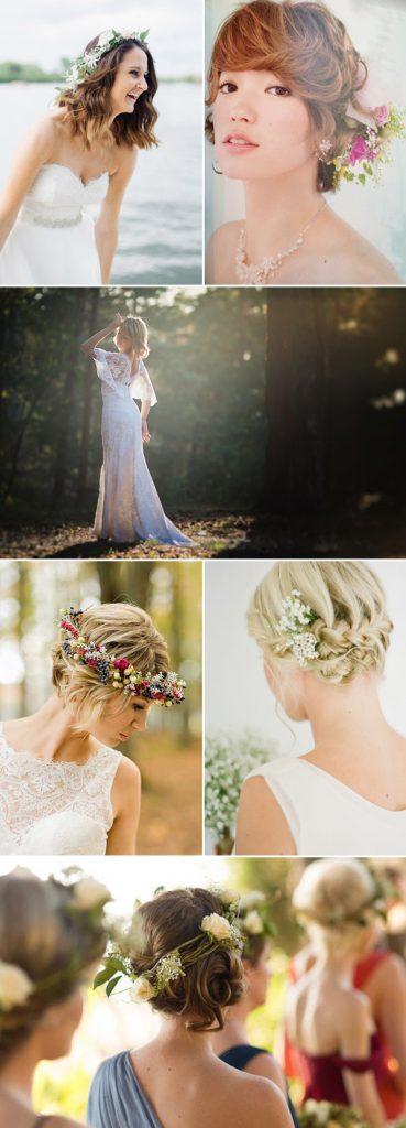 свадебные прически на короткие волосы: фото 58