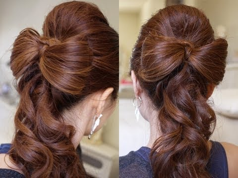 Причёска на длинные волосы на выпускной фото