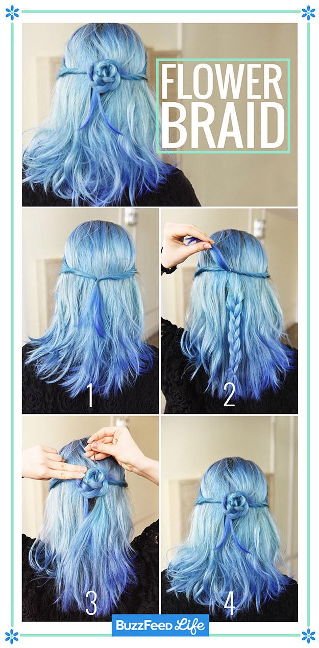 Цветок на волосах