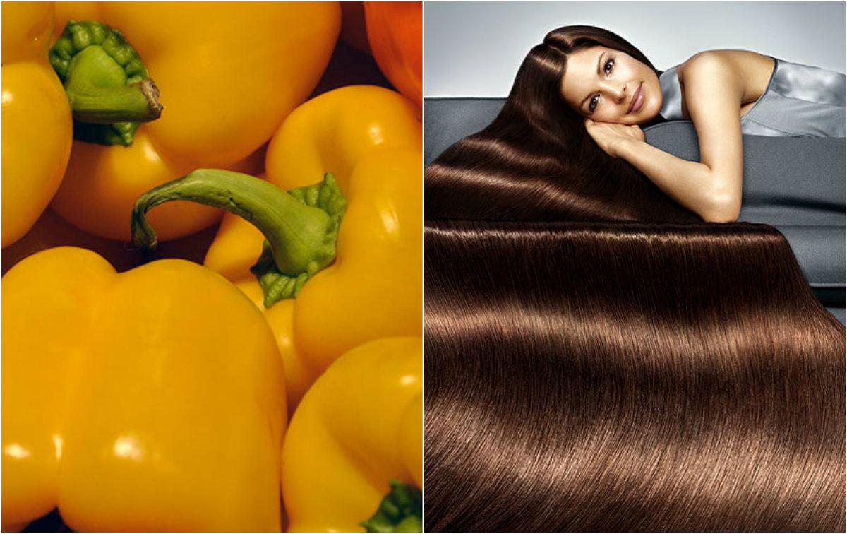 продукты для роста волос: желтый перец