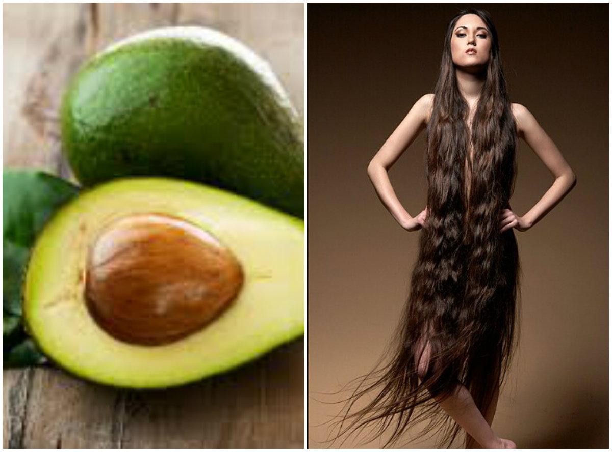 продукты для роста волос: авокадо