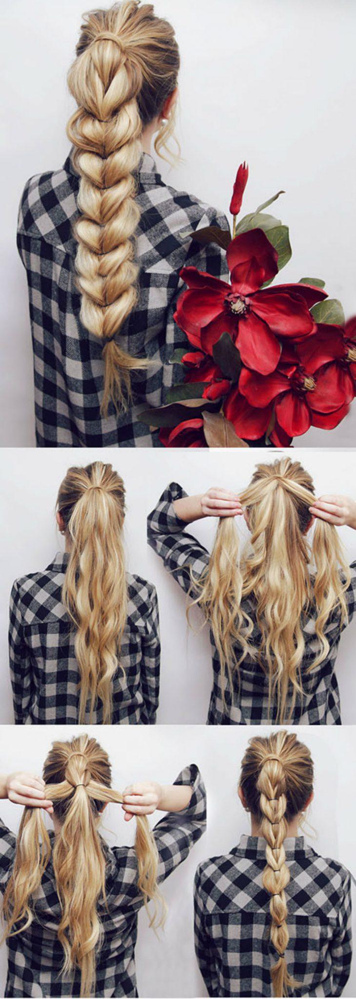 коса из резиночек