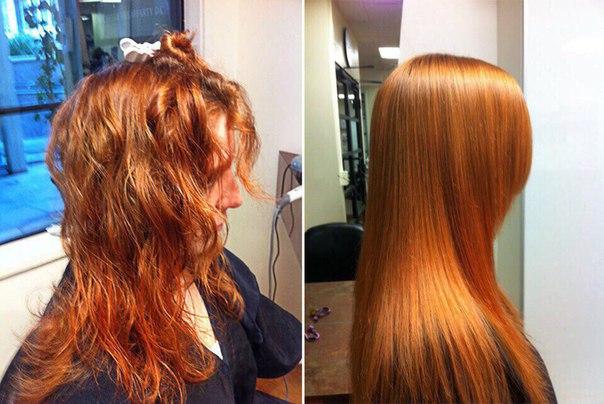Молекулярное глянцевания волос