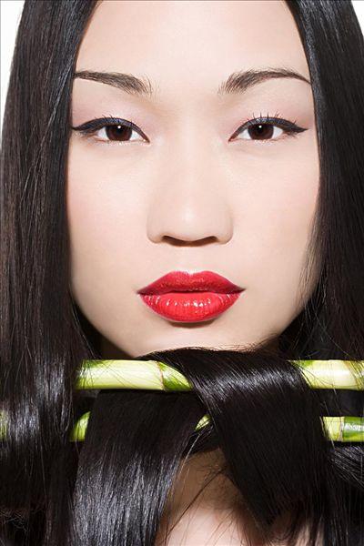 Азиатский тип волос фото 3