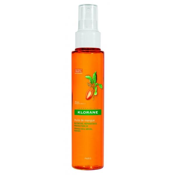 Масло манго с UV-фильтром для сухих и поврежденных волос, Klorane