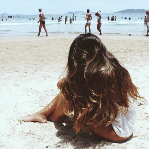 Волосы, пляж