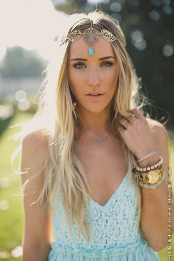 head-chain-boho-headband-coachella-bohemian-headpiece-stone-turquoise-and-gold-head-piece-adjustable-pnm-hb-077