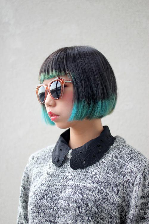 окрашенные кончики для коротких волос фото 6