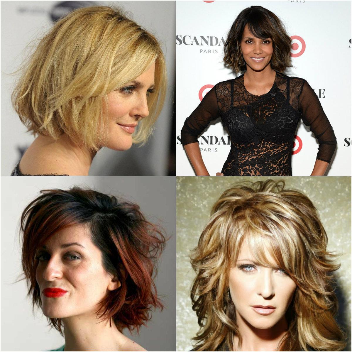 Женские прически кому за 40 на средние волосы