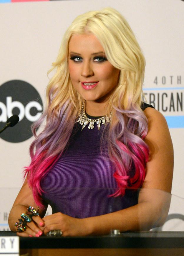Цветные волосы знаменитостей: фото 15