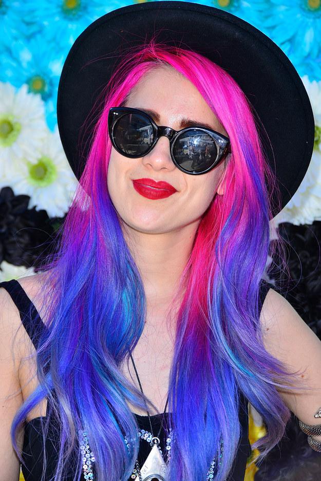 Цветные волосы знаменитостей: фото 29