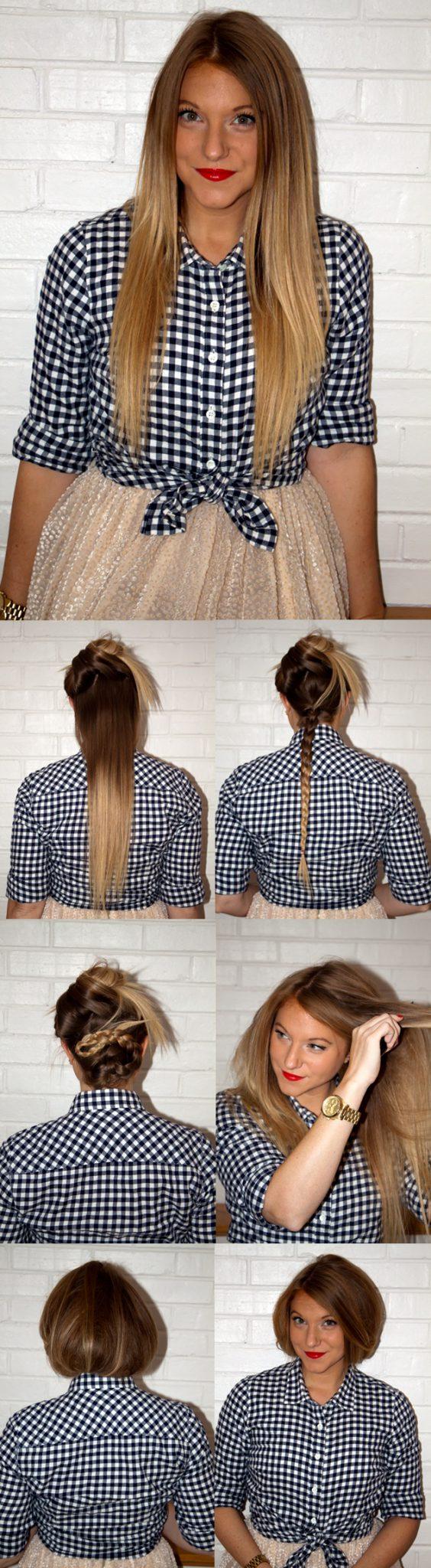 из длинных волос короткие фото 7