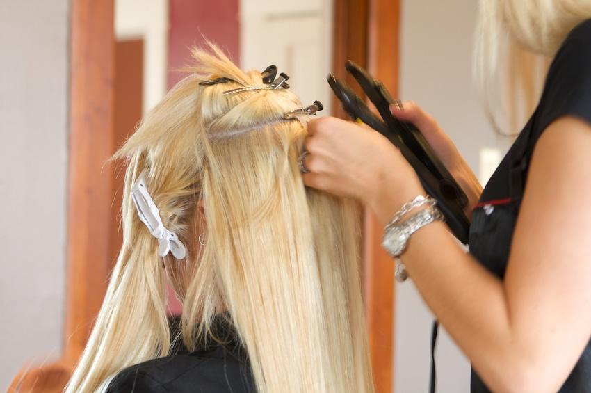 наращивание волос процедура