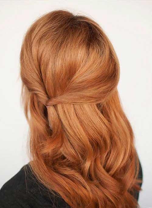 Полураспущенные волосы