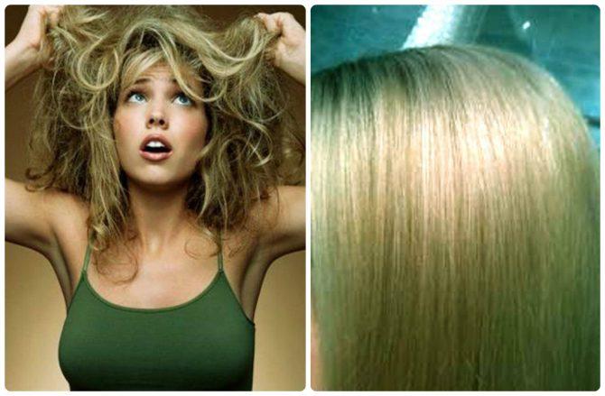 Светлые волосы после хны