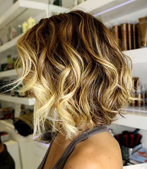 Омбре на кортких волоса фото 1