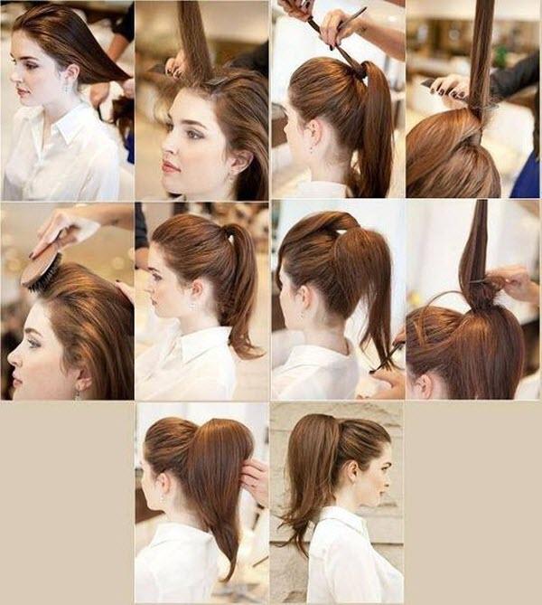 Прически с хвостом на длинные волосы в домашних условиях
