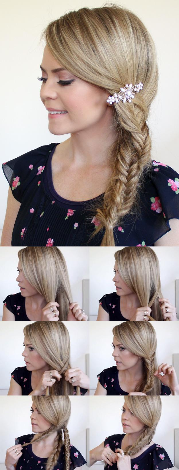 прическа для мам на 1 сентября коса из трех