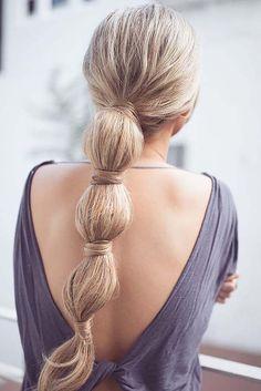 хвост-гирлянда, перетянутый волосами фото 2