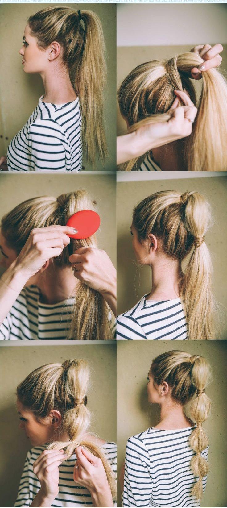 хвост-гирлянда, перетянутый волосами