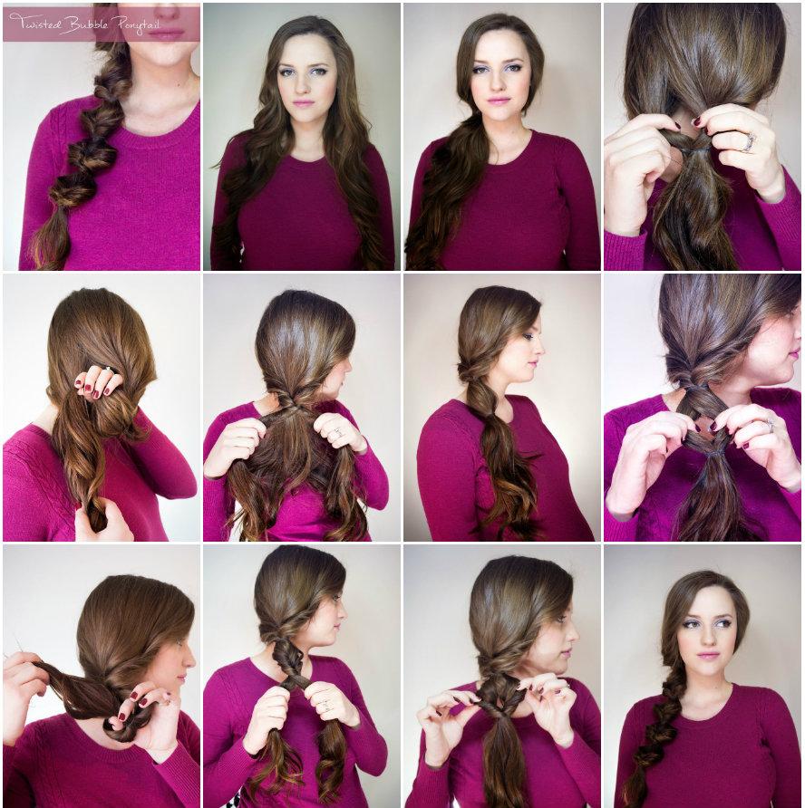 хвост-гирлянда с плетением как делать